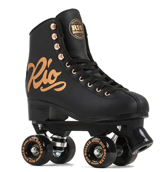 RIO ROLLER(リオローラー) RIO ROLLER クワッドスケート ROSE Black ローラースケート