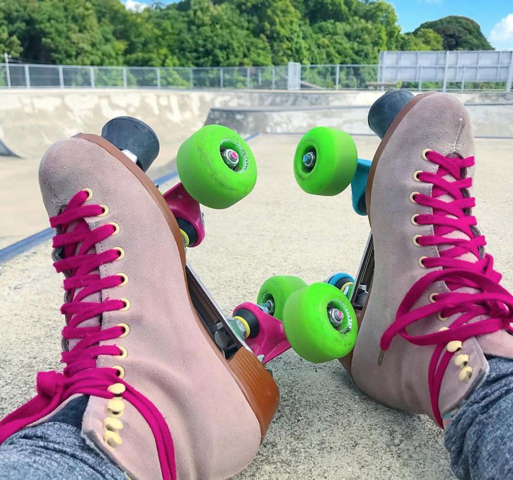 古賀パークでのローラースケート