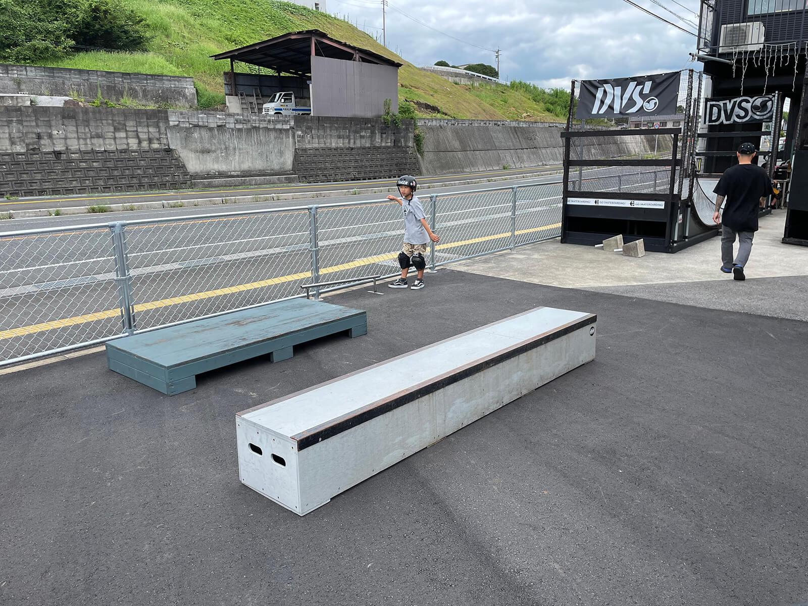 スケートボードパークadapt ストリートセクション